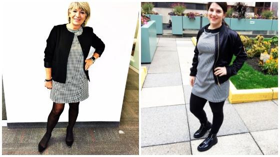 2 styles pour une robe pied de poule