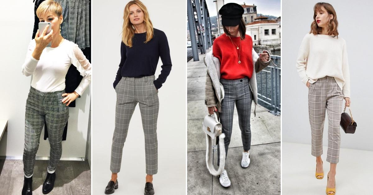 Pantalon à carreaux de l'Aubainerie 19,98$ + inspirations