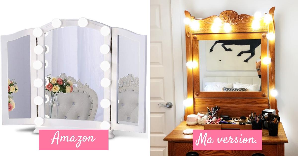 Enfin! Le parfait éclairage pour ton miroir à maquillage